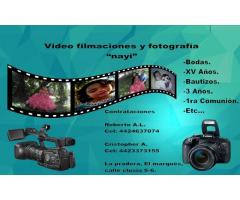 "Video filmación y fotografía ""Nayi"""